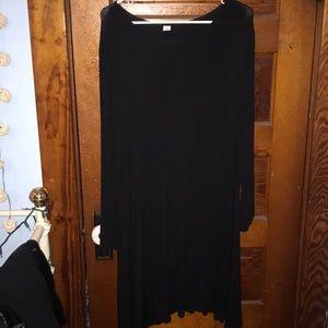 Old Navy Plain Black long sleeve dress sz xxl